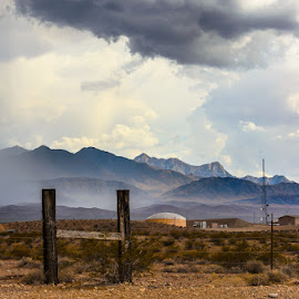 Desert Beauty by Leslie Nu - Landscapes Deserts ( stormy, mountains, desert, cloudscapes, weather, landscapes, light, sun rays, rain )