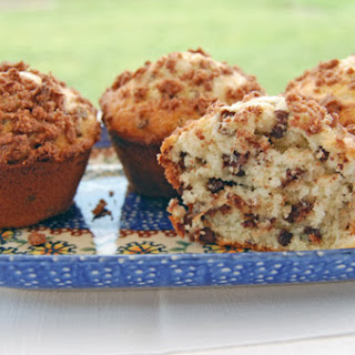 Coconut Chocolate Chip Muffins with Cocoa Coconut Streusel