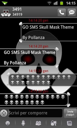 GO SMS Skull Gas Mask