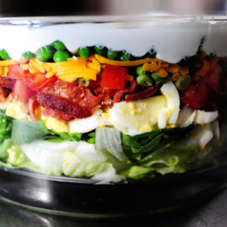Layered Salad Mayonnaise Bacon Peas Recipes