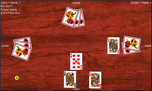 Pepper (Bid Euchre) - screenshot