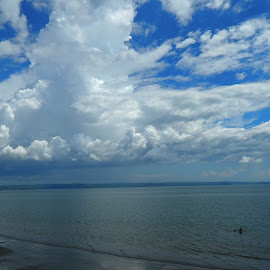 COTTON by Gielyne Yu - Landscapes Cloud Formations ( clouds, hemisphere, sea, horizon, cloudscape,  )