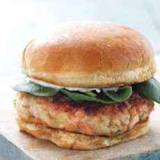 Salmon Burger with Baby Spinach