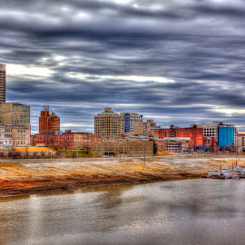 Skyline by Dan Wireman - Buildings & Architecture Architectural Detail ( tonemapped, memphis, skyline, buildings, river )