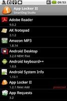 Screenshot of App Lock II Widget Trial