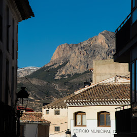 Municipal Offices of Velez Rubio by Chantal Reed - Buildings & Architecture Other Exteriors ( mountains, offices, andalucia, spain, backdrop, municipal offices, velez rubio )