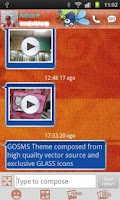 Screenshot of GO SMS Gekko Theme by Gnokkia