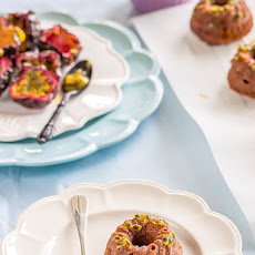Chocolate Passionfruit Mini Bundt Cakes