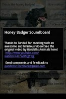 Screenshot of Honey Badger Soundboard