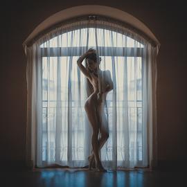 Scent of Woman I by Kalin Kostov - Nudes & Boudoir Artistic Nude ( nude, window, woman, art, fine art, legs, act )