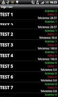 Screenshot of Test PER