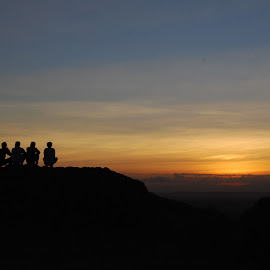 sunset with friends by Taufik Ear - Landscapes Sunsets & Sunrises