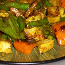 Recipe for Leftover Grilled Chicken Stir Fry with Curry