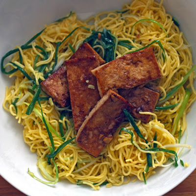 Momofuku's Ginger-Scallion Noodles with Tofu