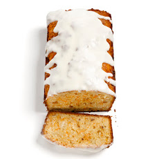 Carrot Bread With Hazelnuts, Coconut and Cream Cheese Glaze