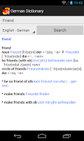 Screenshot of German Dictionary