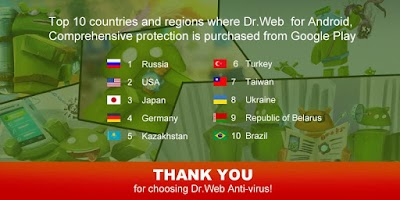 Screenshot of Dr.Web v.9 Anti-virus Light