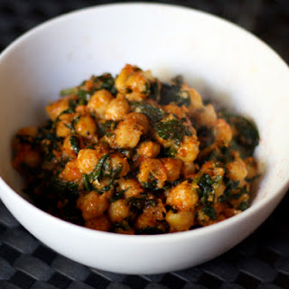 Moroccan Spinach and Chickpeas