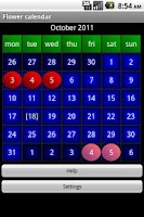 Screenshot of Flower calendar (free)