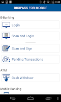 Screenshot of DIGIPASS® for Mobile Demo