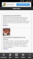 Screenshot of Darts Fans App