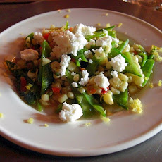 Snow Peas and Feta With Orange Vinaigrette
