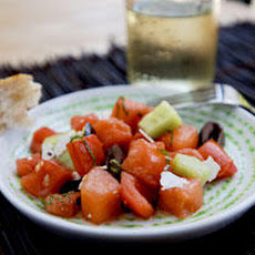 Watermelon, Tomato, and Kalamata Olive Salad Recipe