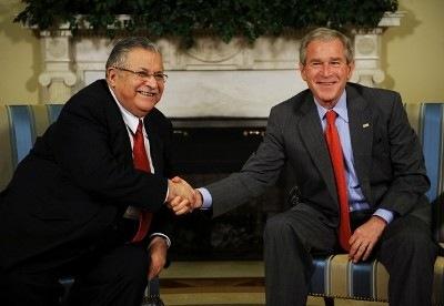 President Talabani and Bush