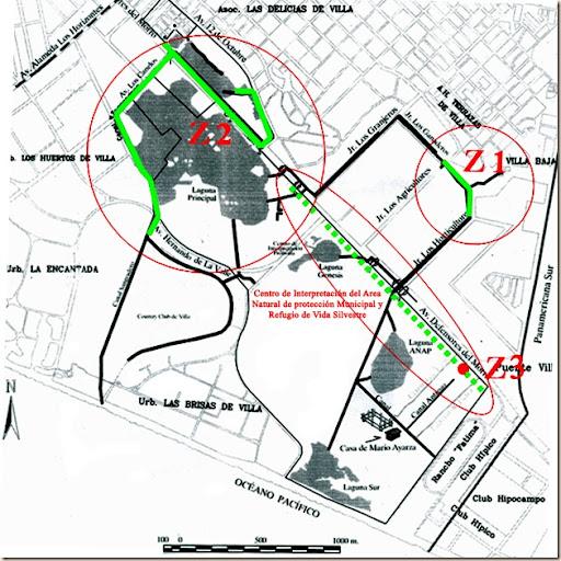 Mapa de canales y drenes