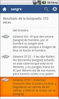Screenshot of Bible in Spanish Offline