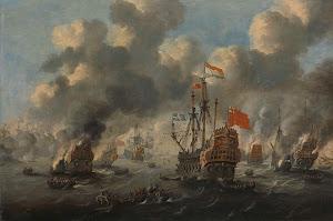 RIJKS: Peter van de Velde: painting 1700