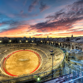 Bull Fight Arena  by Gema Goeyardi - Buildings & Architecture Public & Historical ( arena, nimes, french )