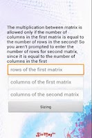 Screenshot of Matrix Product