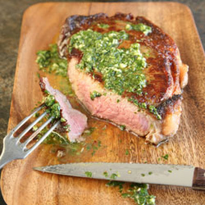 Rib-Eye Steaks with Chimichurri