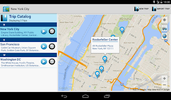 Screenshot of Trippster - GPS route planner