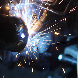 Welding by Sofia Abrantes - Abstract Fire & Fireworks ( weld, welding, cars, soldar, faiscas )