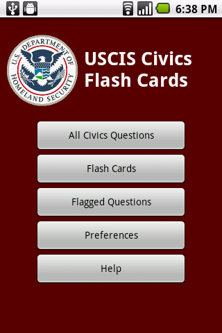 US Citizenship Civics Cards