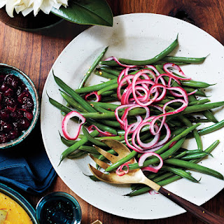 Sautéed Green Beans With Pickled Red Onion