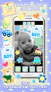 Cute Baby Photo Booth Stickers - screenshot