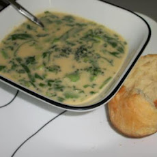 Broccoli Cheese Soup for Two