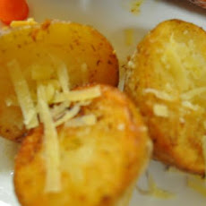 Cheesy Hockey Puck Potatoes With Dill