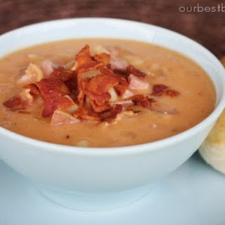 Smokey Bean Soup with Ham and Bacon