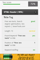 Screenshot of Seo tools, Seo reports, SERP