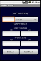 Screenshot of GAS VENTILATION CALCULATOR GB