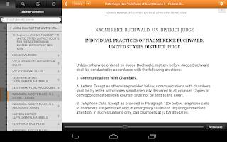 Screenshot of Thomson Reuters ProView