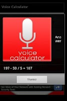 Screenshot of Voice Calculator