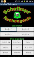 Screenshot of Schafkopf-Rechengenie