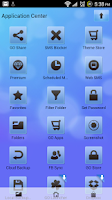 Screenshot of Go SMS Pro Theme Soft Blue