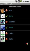 Screenshot of RSS Reader for Android
