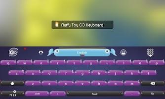 Screenshot of Fluffy Toy GO Keyboard